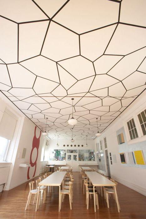 Моделите с различни геометрични форми също могат да направят дизайна на тавана уникален.