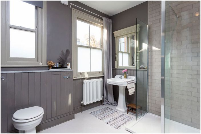 Интериор на банята в скандинавски стил