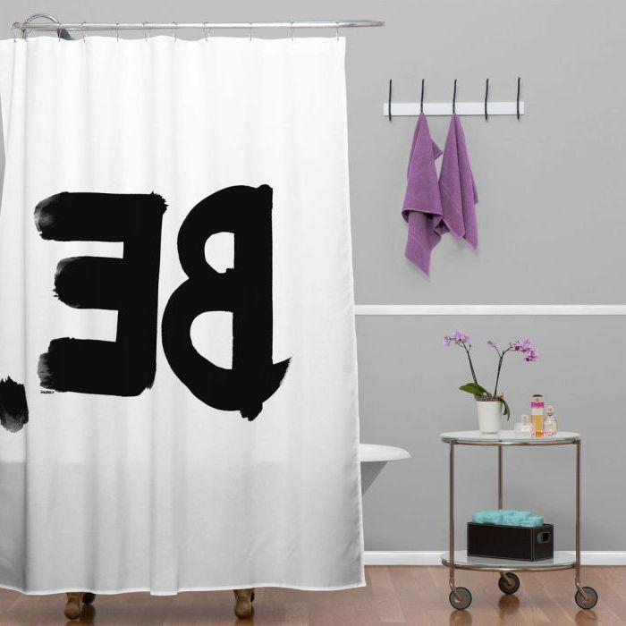 Motywująca zasłona w minimalistycznym stylu.