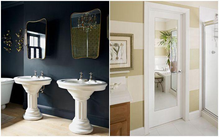 10 начина да преобразите банята си с огледало