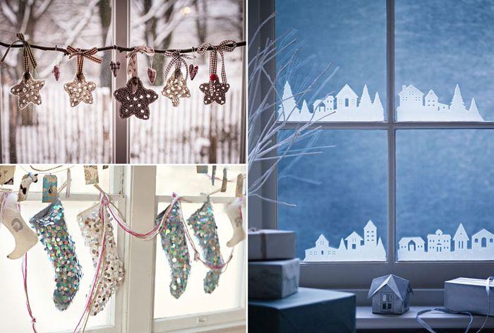 10 начина да украсите прозорци за Нова година.