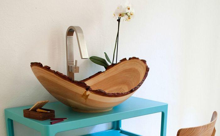 Дървен умивалник