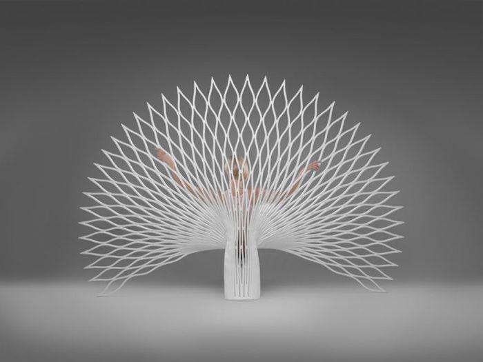 Паун опашка стол