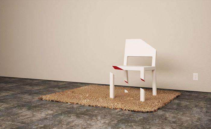 Стол с подстригани крака