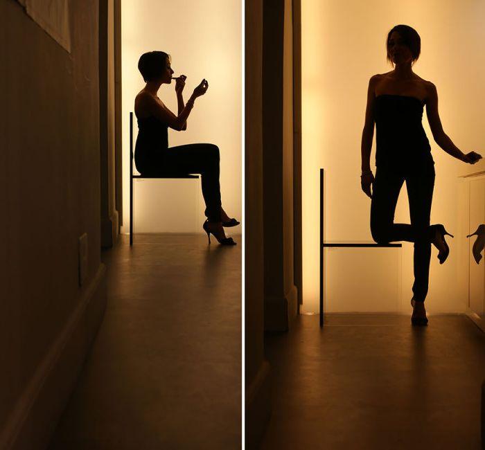 Столове със стъкло вместо обичайните крака