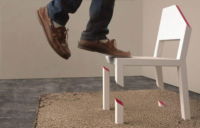 Столът е абсолютно стабилен