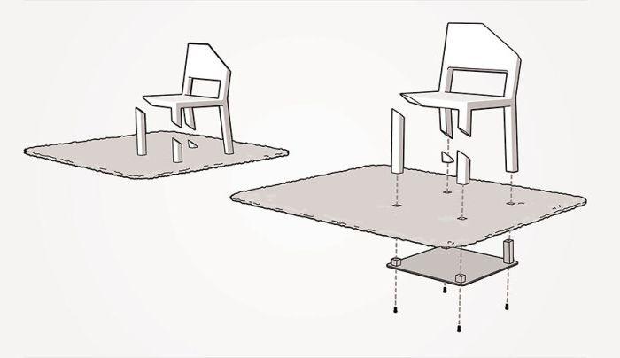 Това е тайната на стола с подрязани крака