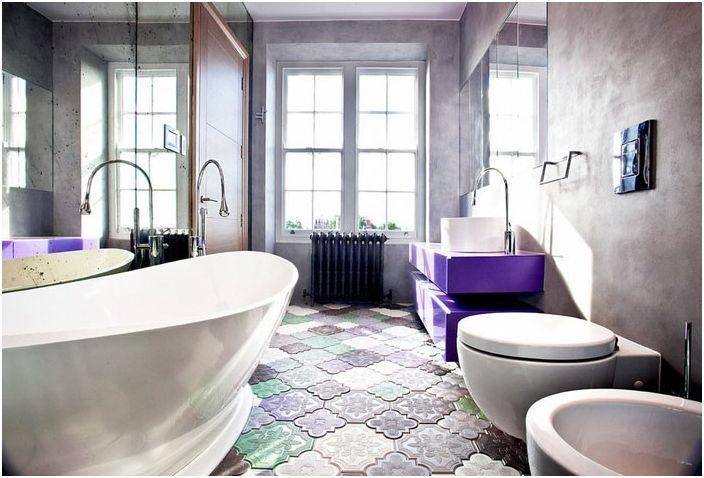 Интерьер ванной от Roselind Wilson Design