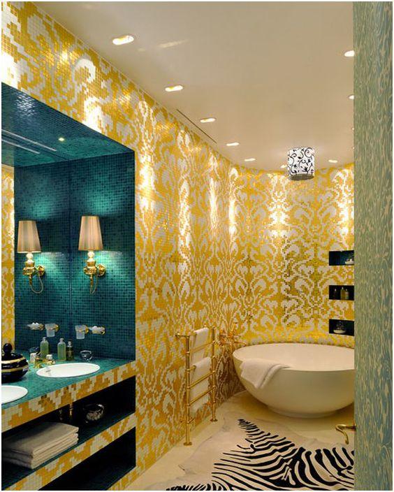 Wnętrze łazienki autorstwa Christophe'a Perichona