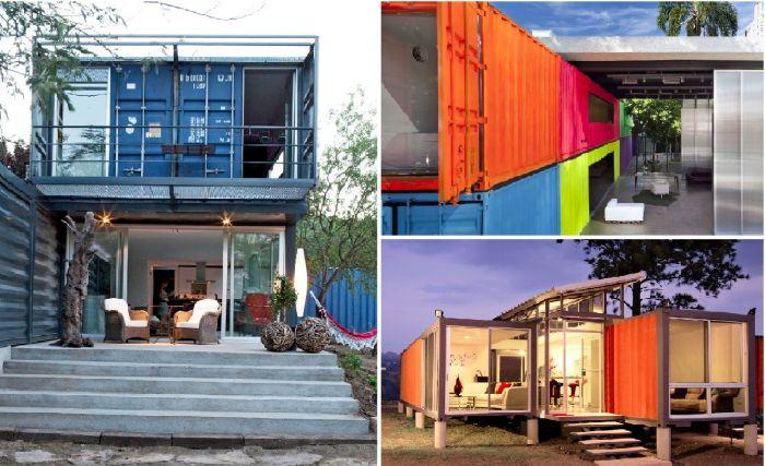 Wspaniałe mieszkania wykonane z kontenerów transportowych.