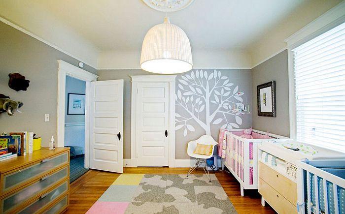 10 wspaniałych pokoi dziecięcych w odcieniach szarości