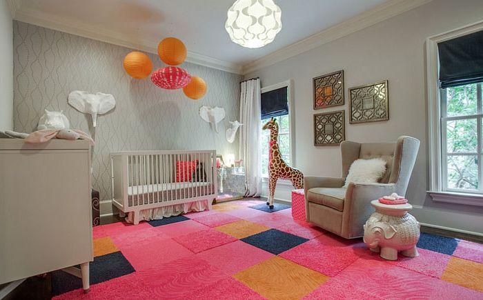 Jasny pokój dziecinny dla dziewczynki