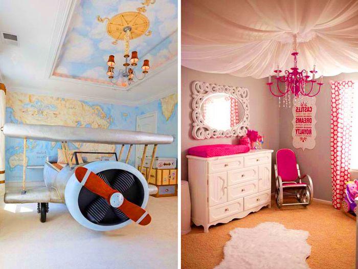 10 pomysłów na dekorację sufitu w pokoju dziecinnym.