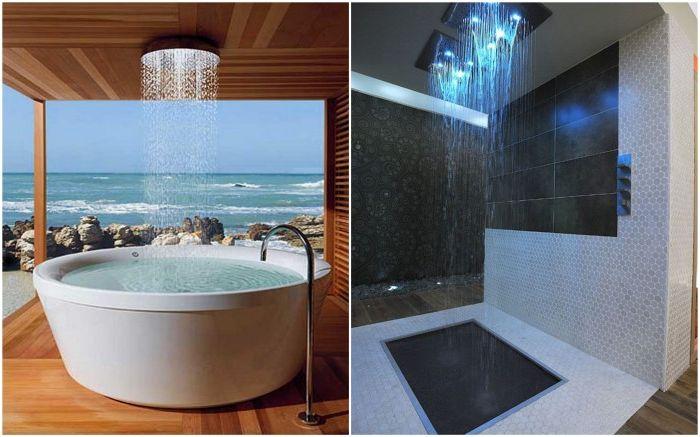 Оригинални душ кабини в тропически стил.