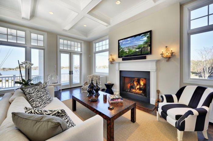 Element wnętrza w kolorze czarnym doda głębi, stylu i ciepła do Twojego domu.