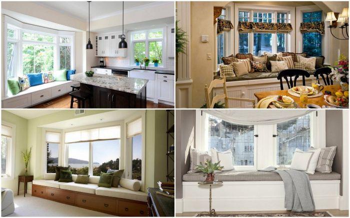 Уютна седалка за прозорци във всяка стая на вашия дом или апартамент.