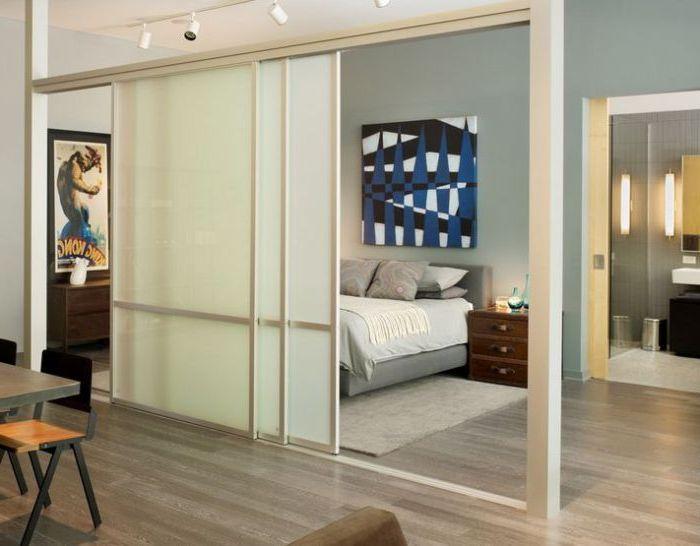 Хороший способ частично разделить две комнаты.