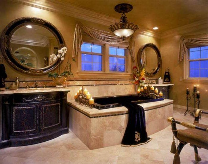 Okrągłe lustra łazienkowe.