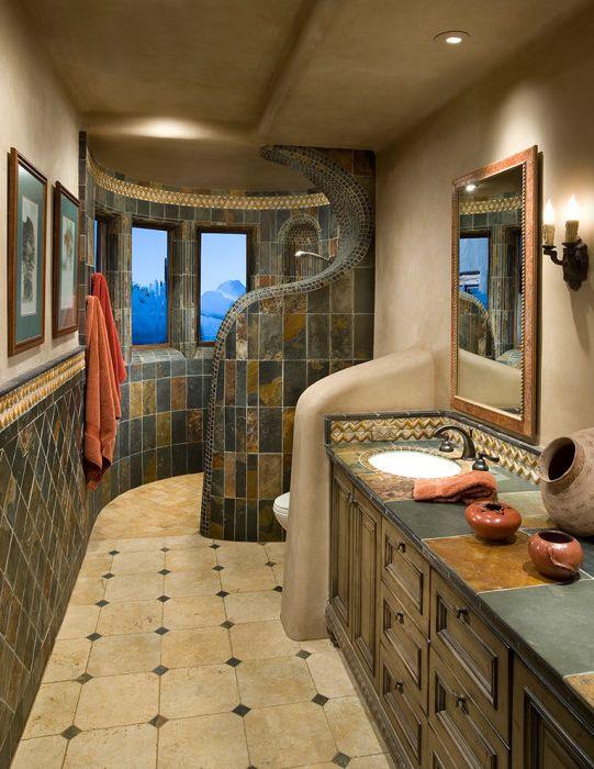 Oryginalny projekt łazienki.