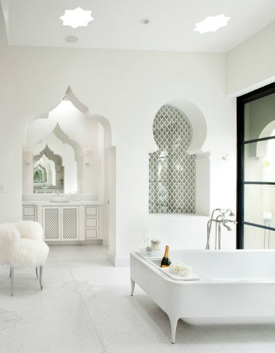 Projekt łazienki w stylu orientalnym.