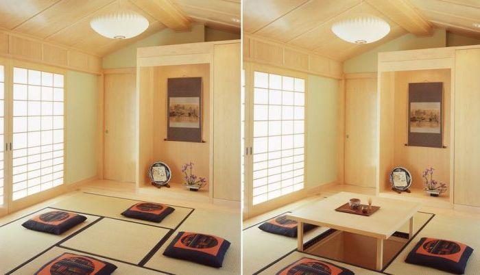 Praktyczny stół, który można schować w podłodze, gdy nie jest potrzebny.
