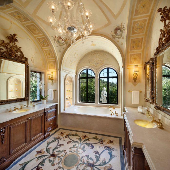 Приятна баня за тези, които обичат лукса.