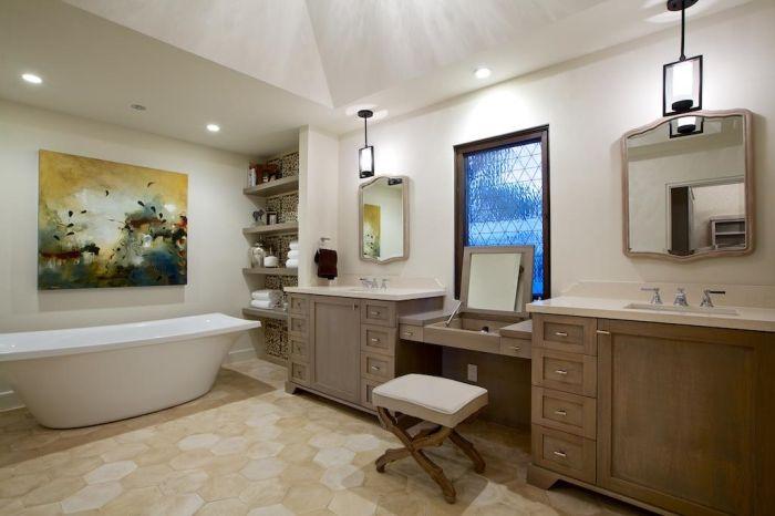 Прост, но елегантен интериор за баня.
