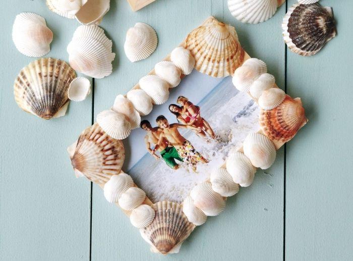 A rendes keret, a kagylóval beillesztve, tökéletes képkeret nyaraláshoz.