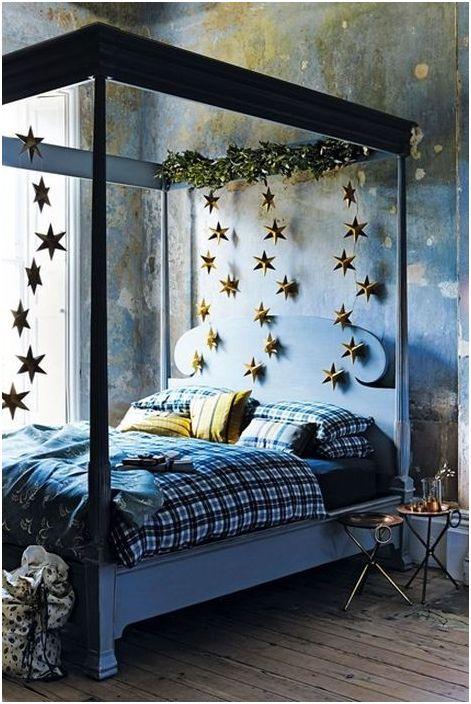 Noworoczny wystrój sypialni
