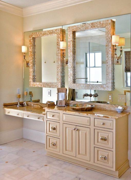 Łatwy sposób na zrobienie dwóch małych luster z jednego dużego lustra.