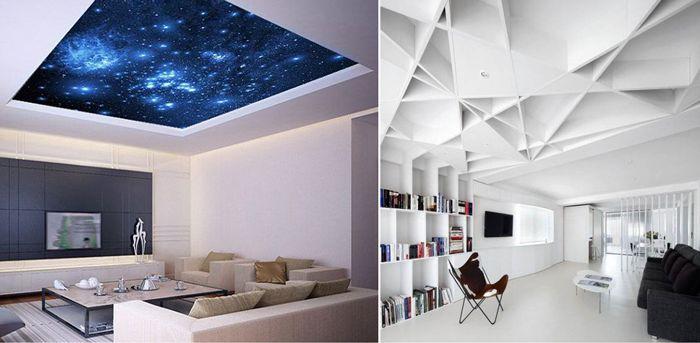 13 pomysłów na dekorację sufitów.