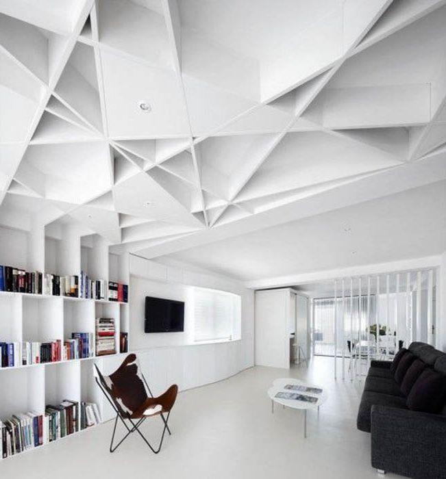 Projekt sufitu w nowoczesnym stylu.