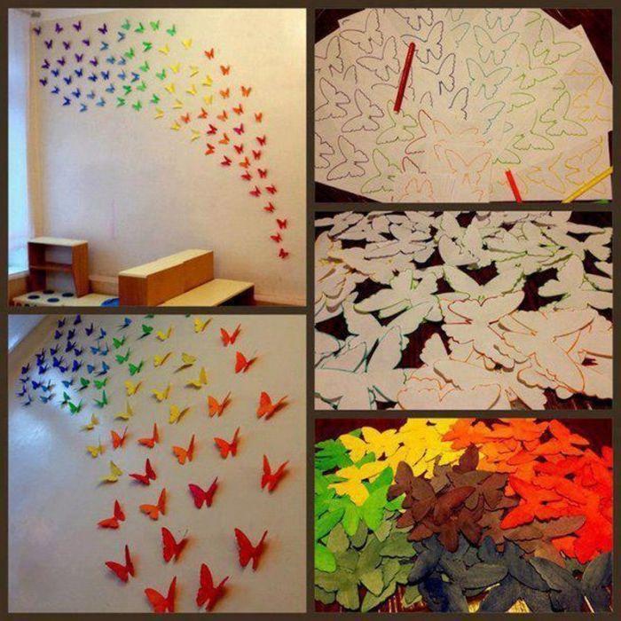 Апликация за пеперуди на стената.