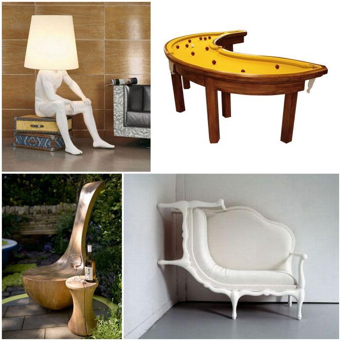 Alkuperäiset huonekalut.