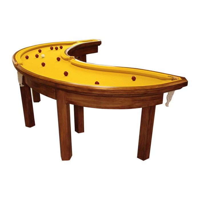 Банановый бильярдный стол.