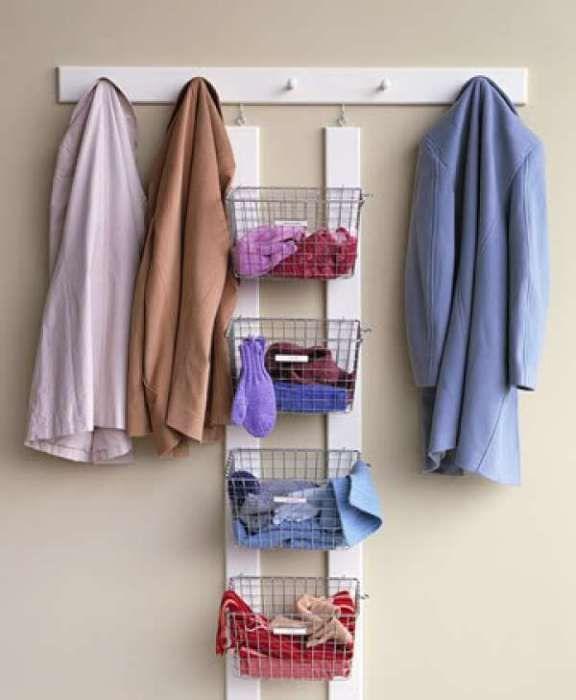 Добър начин за съхранение на зимни връхни дрехи.