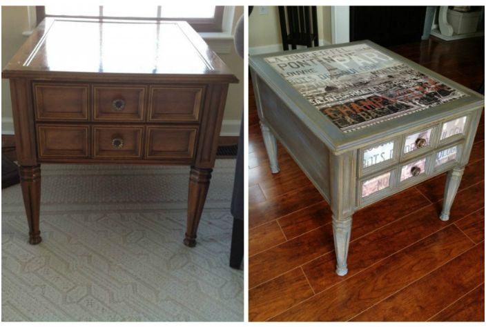 Обемната маса придоби нов цвят и оригинален дизайн на плота.