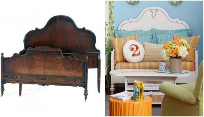 Голяма къдрава челна глава от леглото ще бъде отлична декорация за диван.