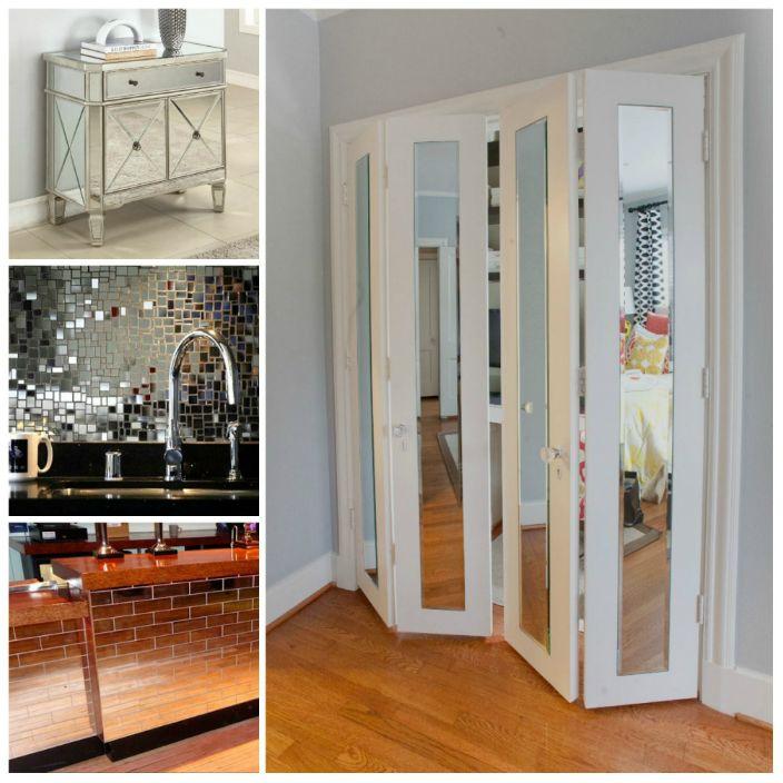 Огледалата и огледалните повърхности не само добавят лукс към интериора, но и спомагат за визуално разширяване на пространството на апартамента.