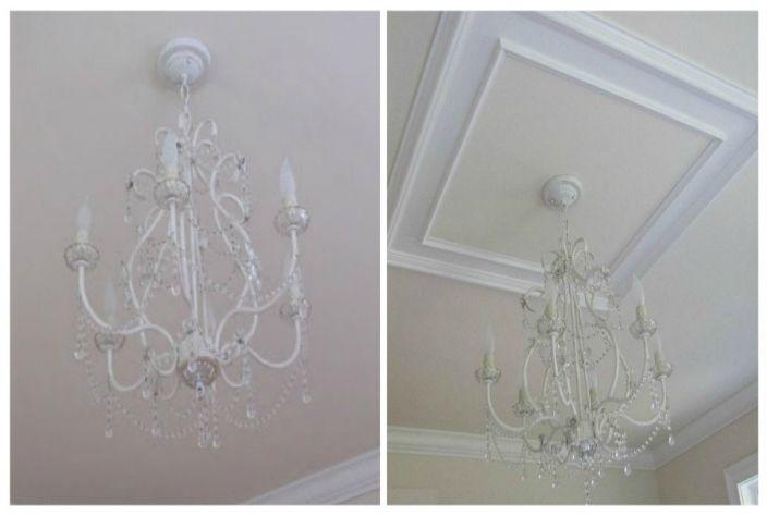 Декоративни корнизи и корнизи могат да се използват за освежаване на прост дизайн на тавана.