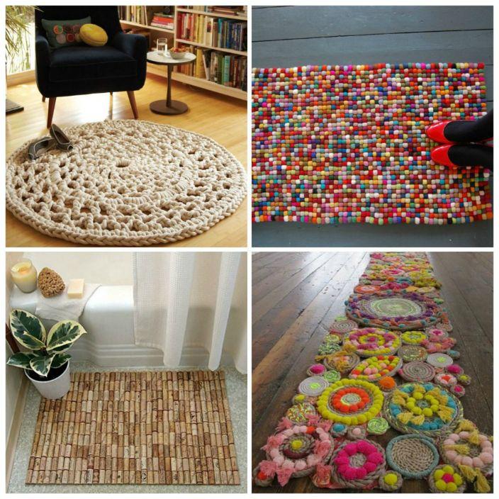 Ярък или неутрален килим, направен със собствените си ръце и с любов, ще добави топлина и комфорт в къщата.