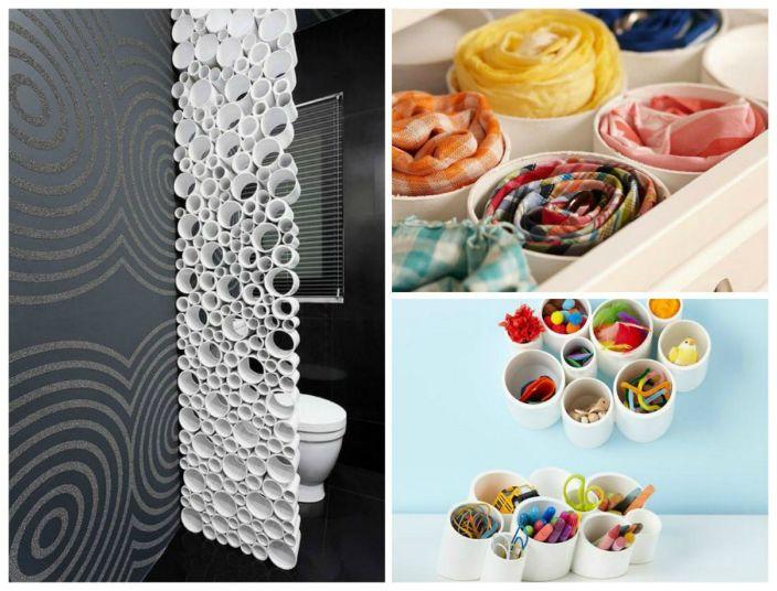 Останките от пластмасови водопроводи могат да се използват като декоративни елементи.