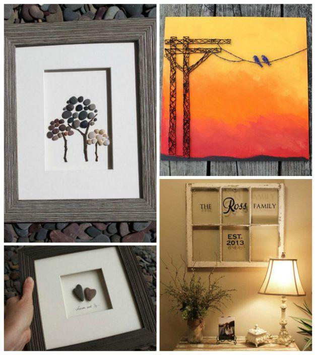 Дограма, клонки, мъниста, мъниста, камъни, черупки са отлични материали за създаване на фантастични картини и инсталации, които придават индивидуалност на апартамент.