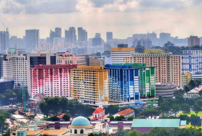 Възхитителен цветен жилищен комплекс.