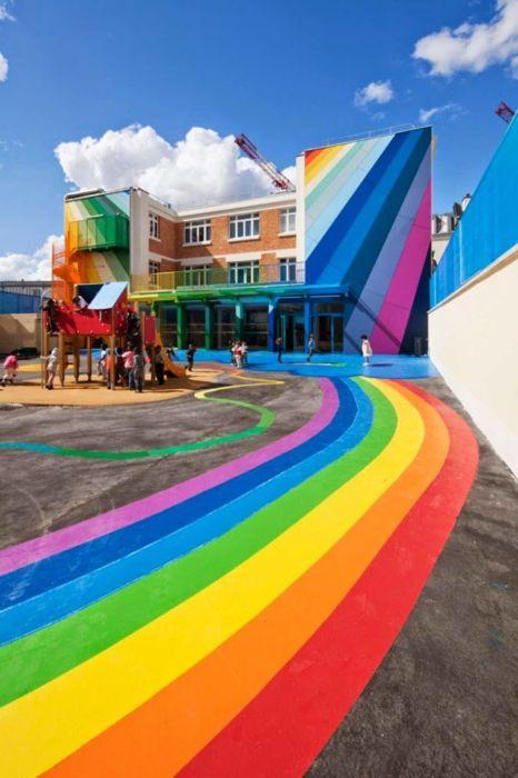Et fantastisk barnehagebygg i Paris.