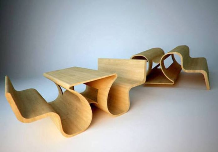 Този сложен дизайн може да бъде две пейки и маса, или две пейки, обърнати една от друга.