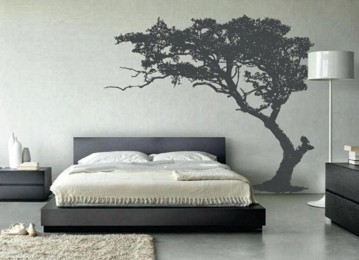 Стильный настенный декор для спальни.