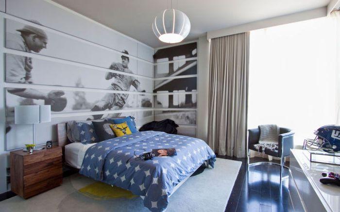 Спальня для мальчика, который является фанатом футбола.