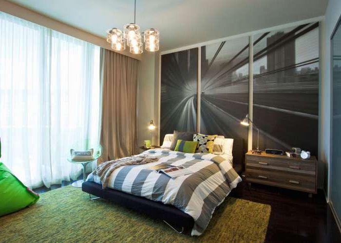 Роскошная мужская спальня для подростка.