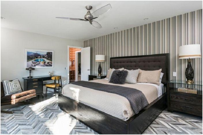 Бежево-коричневая грамма в цветах спальни, настоящий шик.
